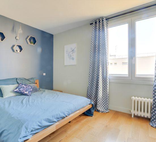 chambre zen bleue