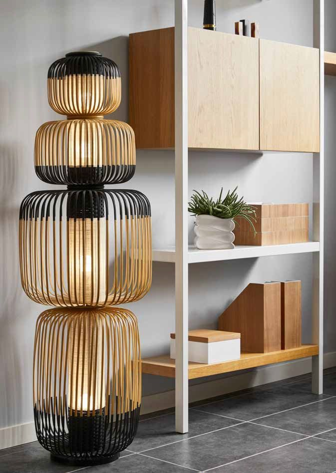 BAMBOO LIGHT TOTEM 4L _ Floor lamp Bamboo Light Collection By Forestier design Arik Levy