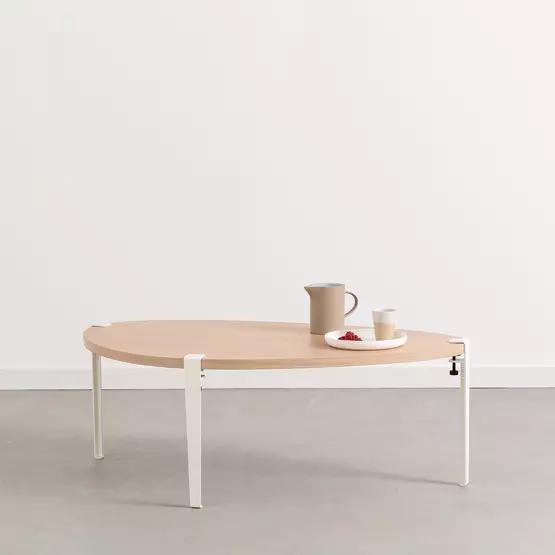 Table basse Galet pieds blanc nuage 43 cm - TIPTOE