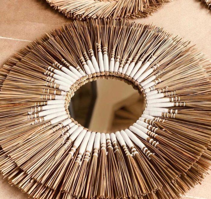 miroir paille